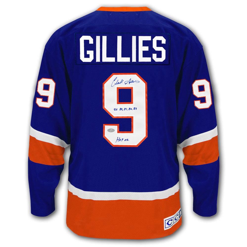 Clark Gillies New York Islanders Stanley Cup HOF CCM Autographed Jersey