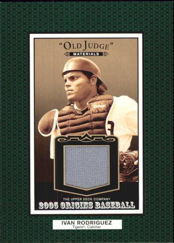 Photo of 2005 Origins Old Judge Materials Jersey #IR Ivan Rodriguez