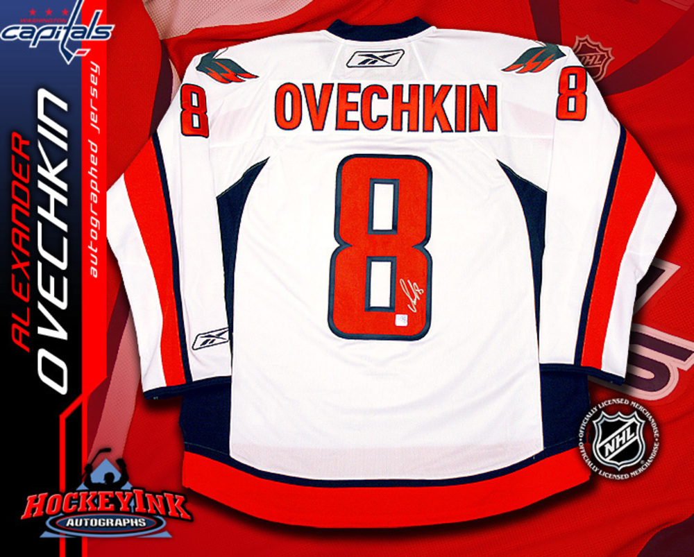 ALEXANDER OVECHKIN Signed White RBK Premier Washington Capitals Jersey