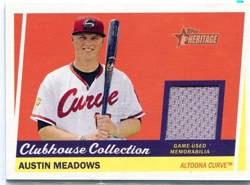 Photo of 2016 Topps Heritage Minors Clubhouse Collection Relics #CCRAM Austin Meadows