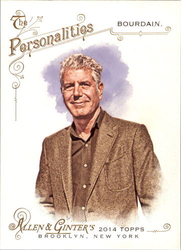 Photo of 2014 Topps Allen and Ginter #210 Anthony Bourdain
