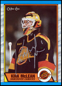 1989 OPC #61 Kirk McLean Autographed Rookie Card - Vancouver Canucks