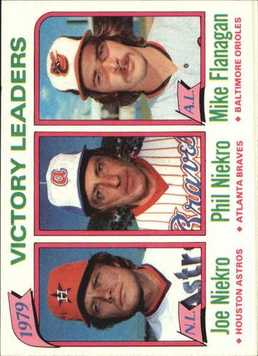 Photo of 1980 Topps #205 Victory Leaders/Joe Niekro/Phil Niekro/Mike Flanagan