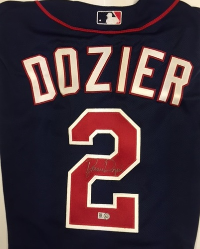 Photo of Brian Dozier Autographed Authentic Twins Jersey