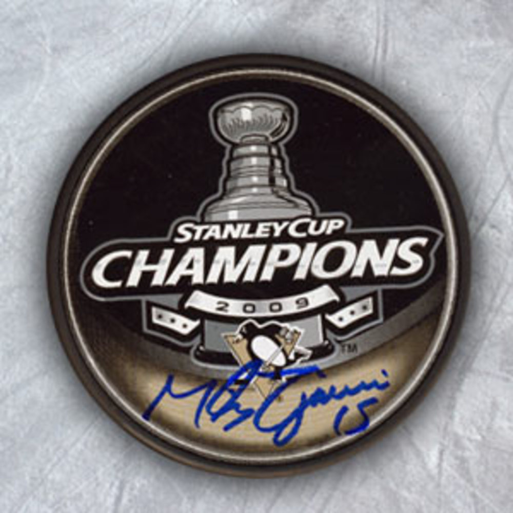Mike Zigomanis Pittsburgh Penguins Autographed 2009 Stanley Cup Puck