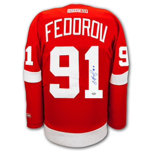Sergei Fedorov Detroit Red Wings CCM Autographed Jersey
