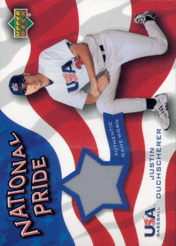 Photo of 2004 Upper Deck National Pride Memorabilia 2 #DUP Justin Duchscherer Jersey