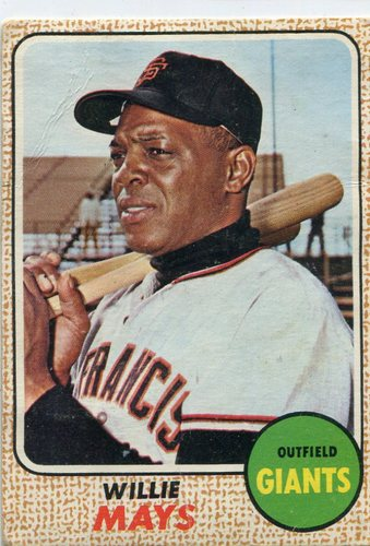 Photo of 1968 Topps #50 Willie Mays -- Giants Hall of Famer