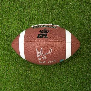 George Reed Autographed CFL Wilson Composite Football - Saskatchewan Roughriders