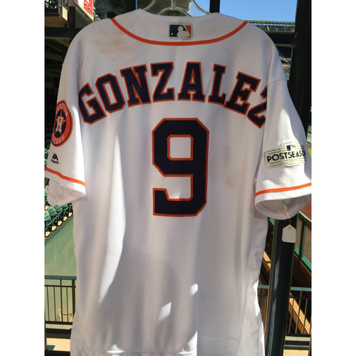 Photo of ALCS Game 2 Marwin Gonzalez Game-Used Home Jersey