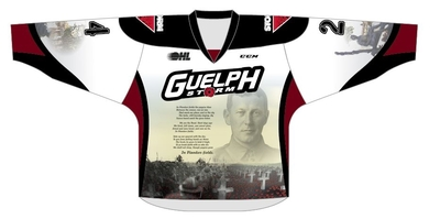 Owen Lalonde #4 game worn Remembrance Jersey