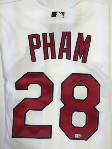 Photo of Tommy Pham Autographed Authentic Cardinals Jersey