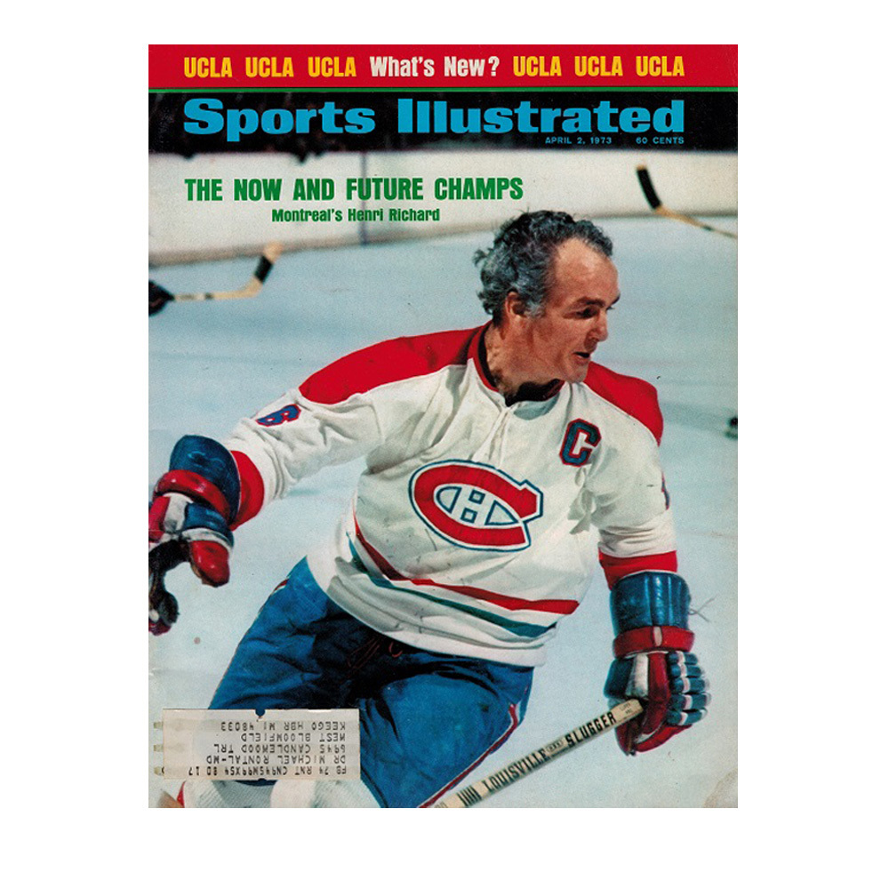 HENRI RICHARD Sports Illustrated Magazine April 2, 1973 - Montreal Canadiens