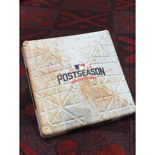 Photo of 2016 ALDS Game 2: Red Sox vs. Indians - Game-Used Base: 1st Base - Innings 7-9