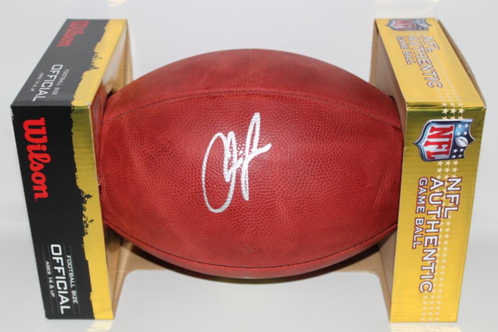 NFL - CHIEFS CHRIS JONES SIGNED AUTHENTIC FOOTBALL