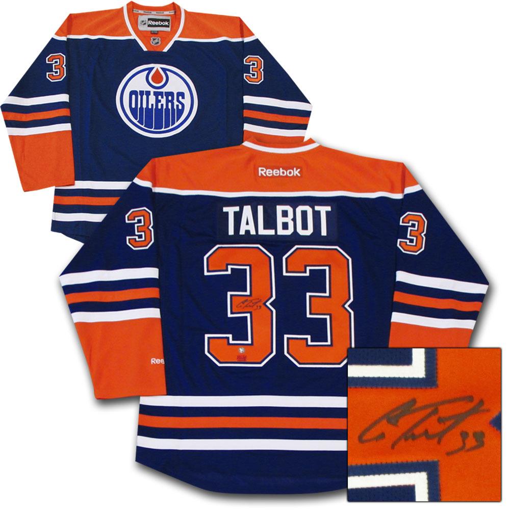 Cam Talbot Autographed Edmonton Oilers Jersey