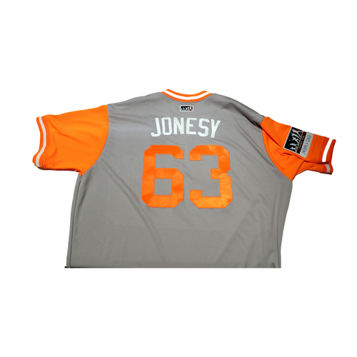 "Photo of Ryder ""Jonesy"" Jones San Francisco Giants Game-Used Players Weekend Jersey"