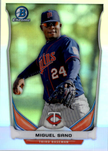Photo of 2014 Bowman Chrome Draft Top Prospects Refractor Miguel Sano -- Twins post-season