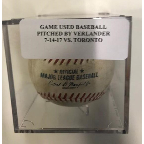 Game-Used Baseball: Ball Pitched by Justin Verlander to Josh Donaldson & Justin Smoak