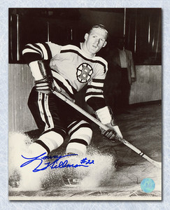 LARRY HILLMAN Boston Bruins SIGNED 8x10 Photo