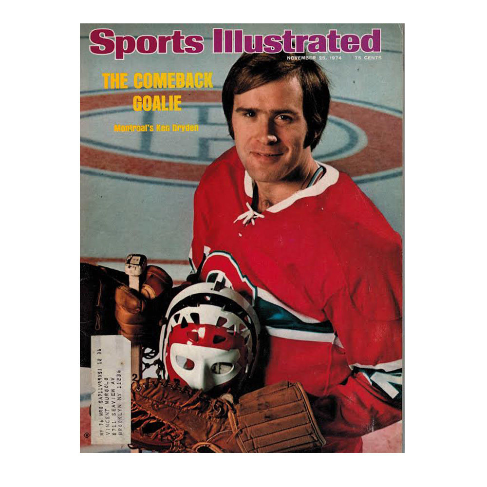 KEN DRYDEN Sports Illustrated Magazine November 25, 1974- Montreal Canadiens