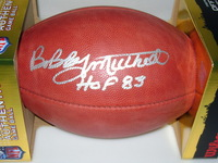 HOF - BROWNS BOBBY MITCHELL SIGNED AUTHENTIC FOOTBALL