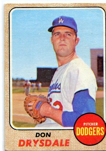 Photo of 1968 Topps #145 Don Drysdale -- Dodgers Hall of Famer