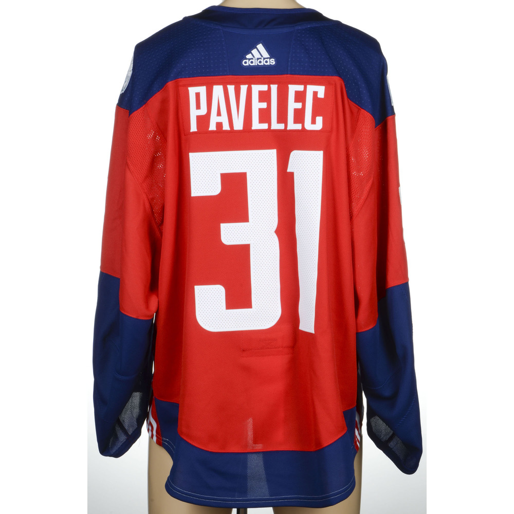 Ondrej Pavelec Winnipeg Jets Player-Issued 2016 World Cup of Hockey Team Czech Republic Jersey