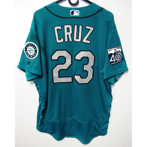 Photo of Nelson Cruz Green Game-Used 40th Anniversary Jersey 4-19-2017 Size 50