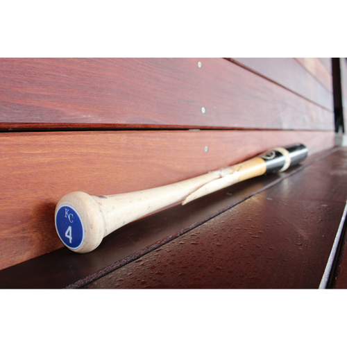 Photo of Game-Used Three Piece Broken Bat: Alex Gordon (KC at CLE - 9/17/17)