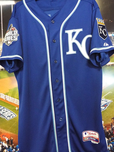 Photo of Club Issued Kris Medlen Blue 2015 World Series Jersey
