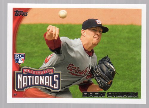 Photo of 2010 Topps Update #US175A Drew Storen RC