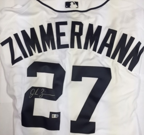 Photo of Jordan Zimmermann Autographed Authentic Tigers Jersey