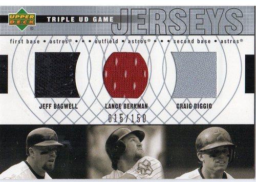 Photo of 2003 Upper Deck Triple Game Jersey #HOU Jeff Bagwell/Lance Berkman/Craig Biggio A