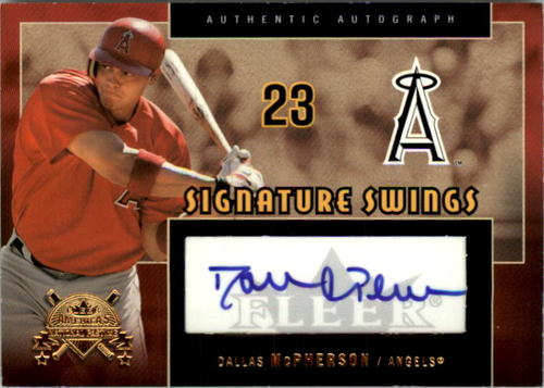 Photo of 2005 National Pastime Signature Swings Gold #DM Dallas McPherson/199