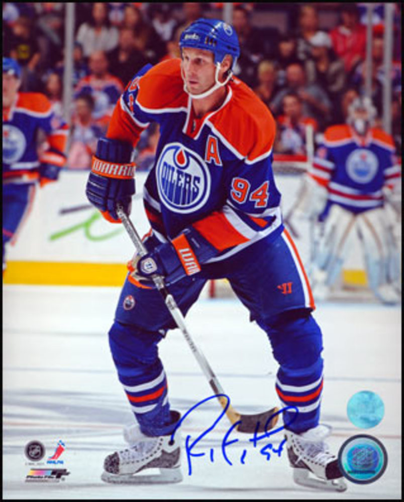 RYAN SMYTH Edmonton Oilers SIGNED 8x10 Game Action Photo