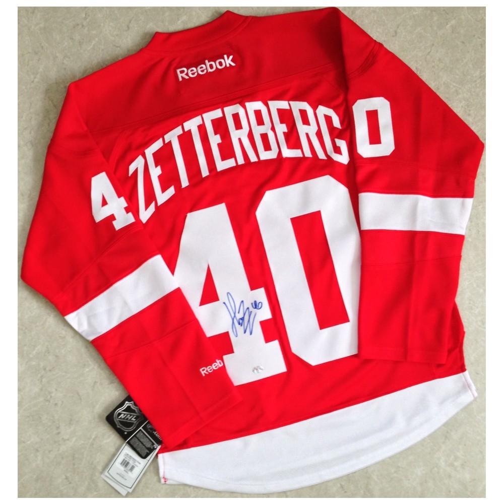 Henrik Zetterberg Autographed Detroit Red Wings (home) Rbk Premier Jersey