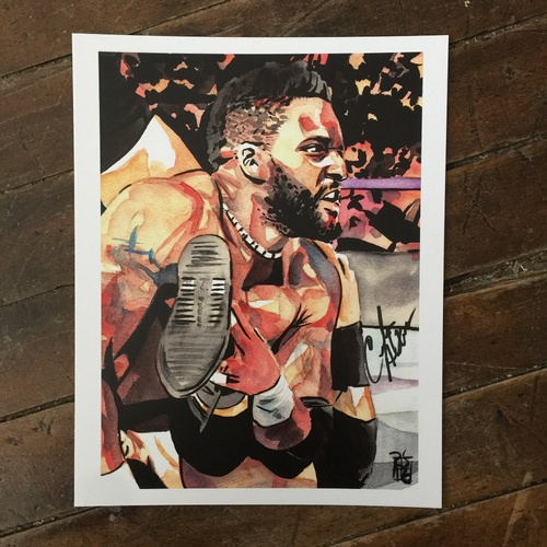 Photo of Cedric Alexander SIGNED 11 x 14 Rob Schamberger Print