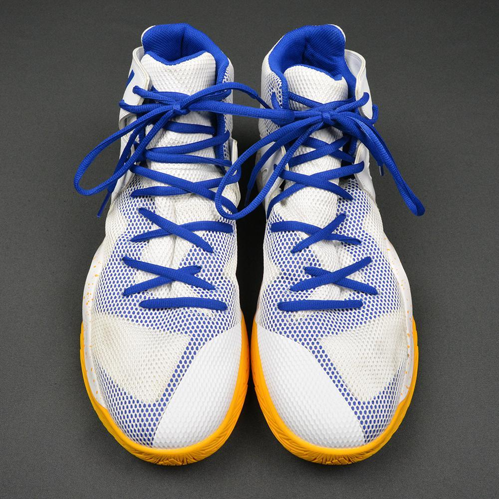 David West - Golden State Warriors - Game-Issued Autographed Shoes - January 23, 2017 vs. Miami Heat