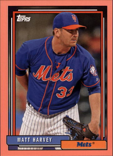 Photo of 2017 Topps Archives Peach #247 Matt Harvey /199