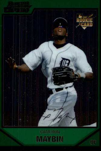 Photo of 2007 Bowman Chrome Draft #BDP12 Cameron Maybin Rookie Card -- Astros post-season