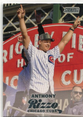 Photo of 2017 Stadium Club #53B Anthony Rizzo short print World Series parade -- NLCS roster
