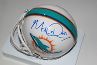 NFL - DOLPHINS MIKE POUNCEY SIGNED DOLPHINS MINI HELMET