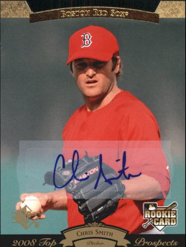 Photo of 2008 Upper Deck Timeline 1995 SP Top Prospects Autographs #186 Chris Smith