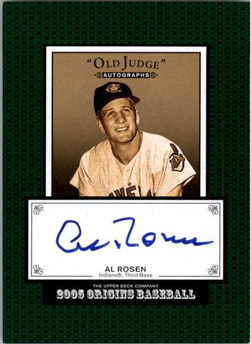 Photo of 2005 Origins Old Judge Autographs #RO Al Rosen T3