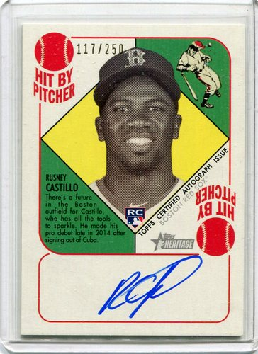 Photo of 2015 Topps Heritage '51 Collection Autographs  Rusney Castillo117/250