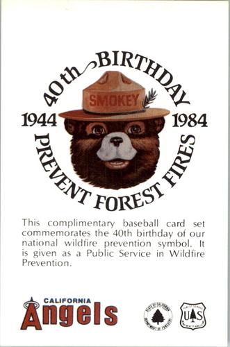 Photo of 1984 Angels Smokey #28 Smokey the Bear