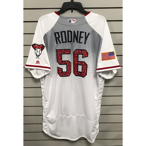 Photo of Fernando Rodney Game-Used Home 4th of July Jersey