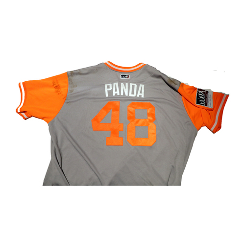 "Photo of Pablo ""Panda"" Sandoval San Francisco Giants Game-Used Players Weekend Jersey"