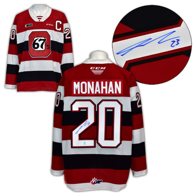 Sean Monahan Ottawa 67s Autographed CHL CCM Replica Hockey Jersey